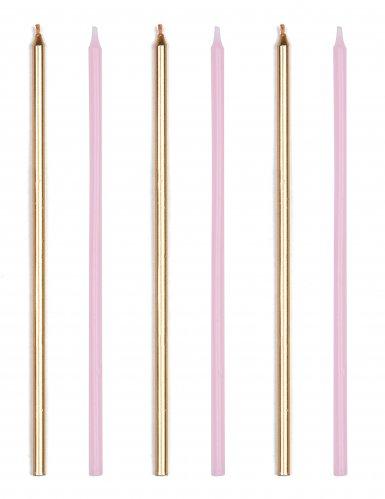16 candeline giganti rosa e oro