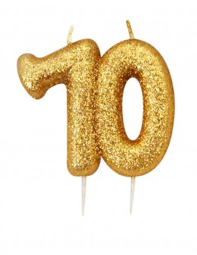 Candelina di compleanno oro brillante 70 anni