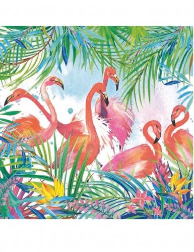 20 tovaglioli di carta fenicotteri tropicali