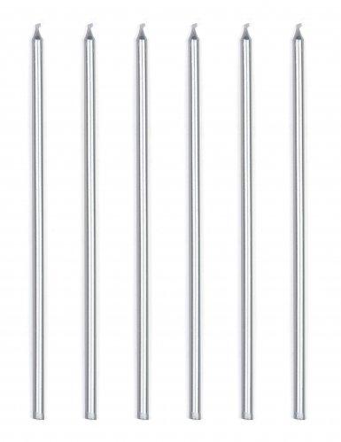 16 candeline giganti color argento