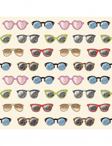24 tovagliolini di carta occhiali da sole