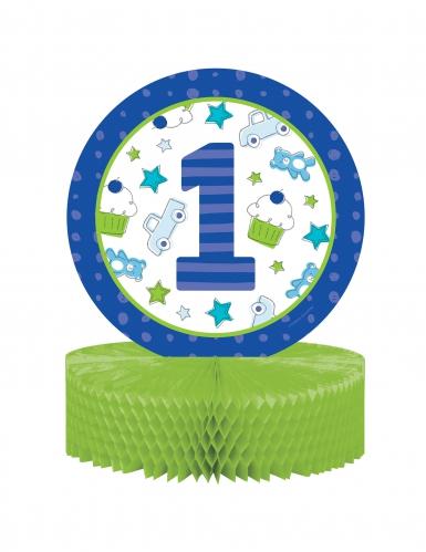 Centro Tavola 1° Compleanno blu 30.5 cm
