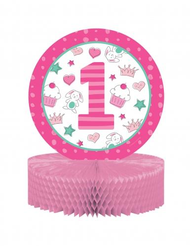 Centro Tavola 1° Compleanno Rosa 30.5 cm