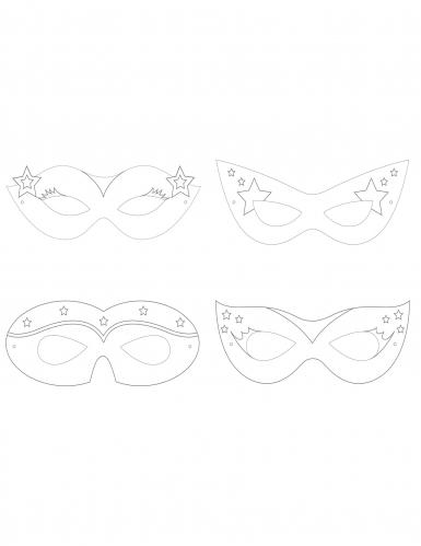 12 maschere da colorare super eroine