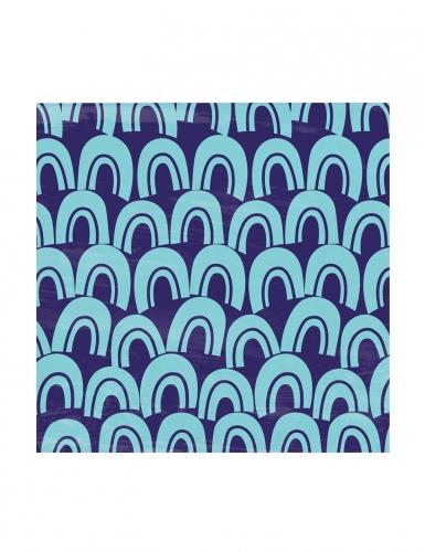 24 tovagliolini di carta pesci blu-1