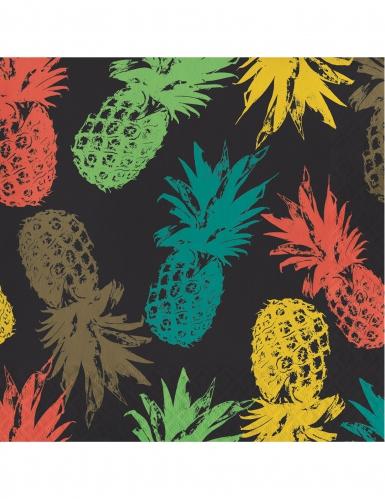 16 tovaglioli di carta ananas colorate