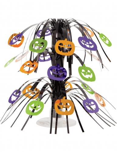 Centrotavola a cascata con zucche Halloween