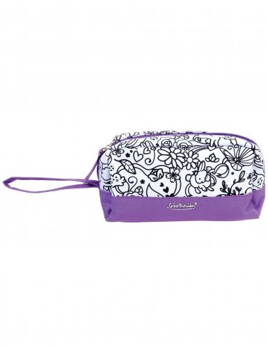 Trousse lavabile viola da colorare e pennarello