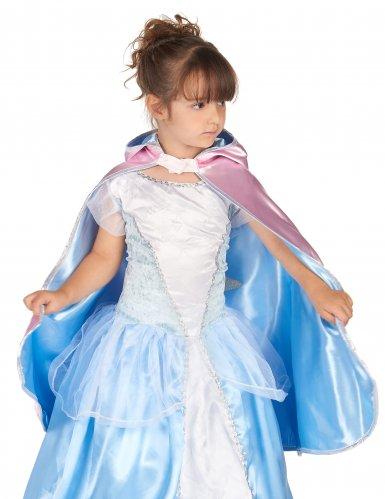 Mantello principessa double face rosa e blu bambina-2