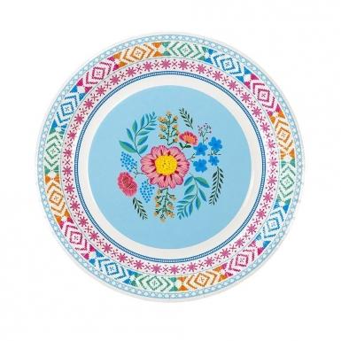 8 piatti in cartone con fiori gipsy 23 cm-3