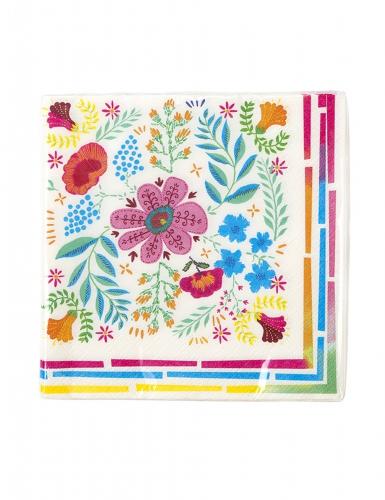 20 tovaglioli di carta con fiori gipsy