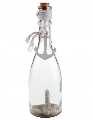 Bottiglia decorativa in vetro stile marino