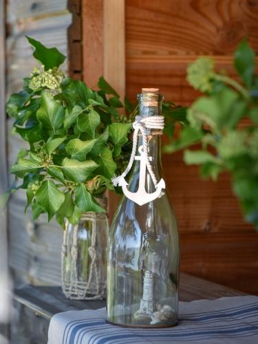 Bottiglia decorativa in vetro stile marino-1