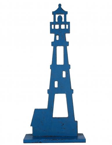 Faro in legno blu 35 cm