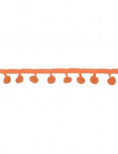 Nastro con pon pon arancio 2 m