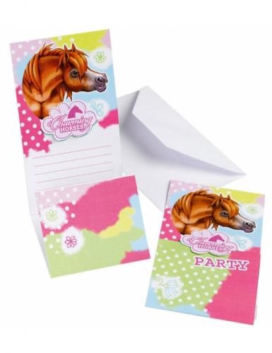 6 inviti di compleanno Charming Horses
