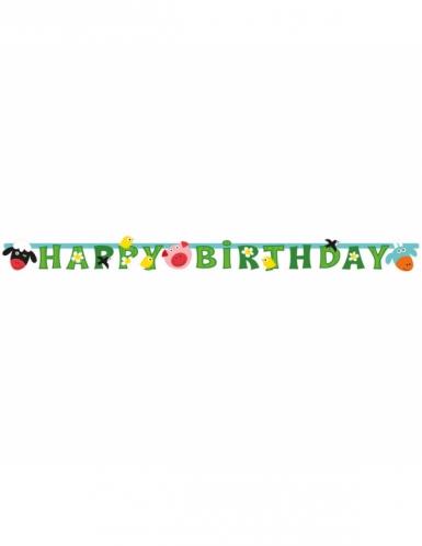 Ghirlanda in cartone Happy Birthday allegra fattoria-1