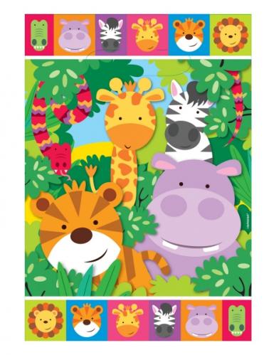8 sacchetti regalo plastica animaletti della giungla