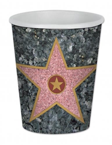 8 bicchieri in cartone stella di Hollywood