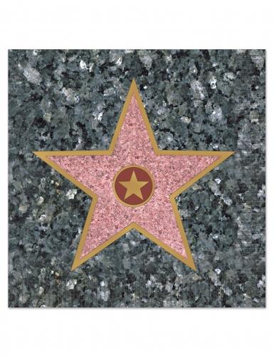 16 tovaglioli di carta stella di Hollywood