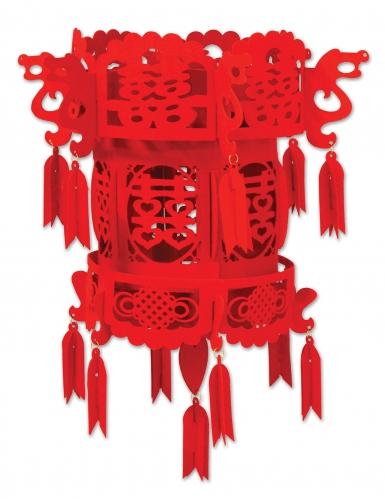 Lanterna cinese in feltro rossa
