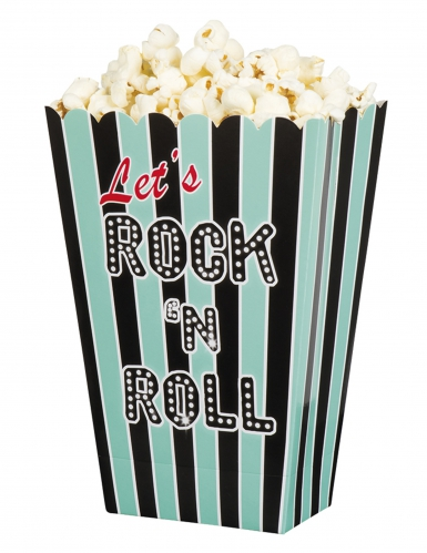4 scatole pop corn Rock'n Roll