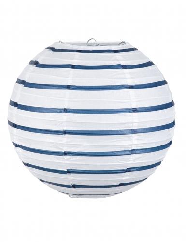Lanterna giapponese bianca a righe blu