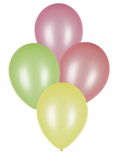 8 palloncini in lattice fluorescenti