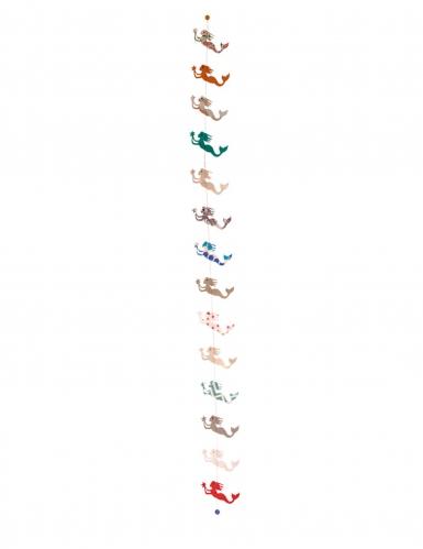 Decorazione da appendere con sirenette colorate