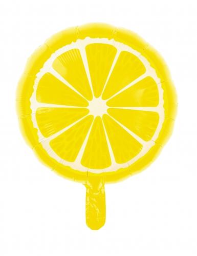 Palloncino alluminio rotondo limone