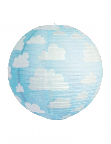 Lanterna giapponese blu con nuvolette