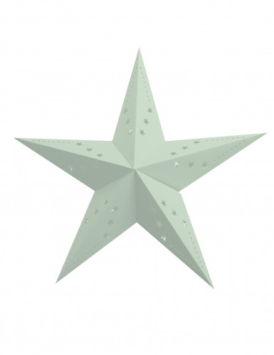 Lanterna a stella color menta 60 cm