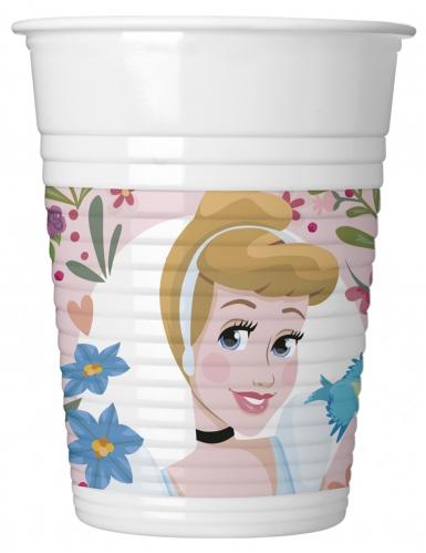 8 bicchieri in plastica a motivi Principesse Disney™