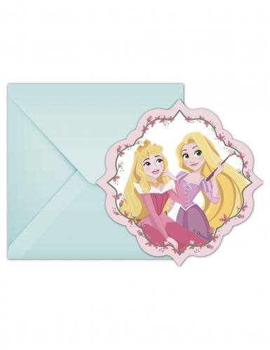 6 inviti di compleanno pastello principesse Disney™