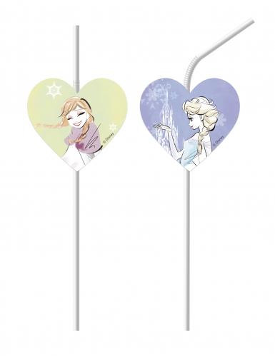 6 cannucce cuore color lilla Frozen™