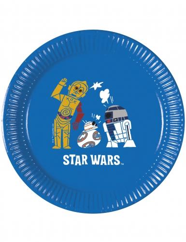 8 piattini in cartone Star Wars Forces of destiny™ 20 cm