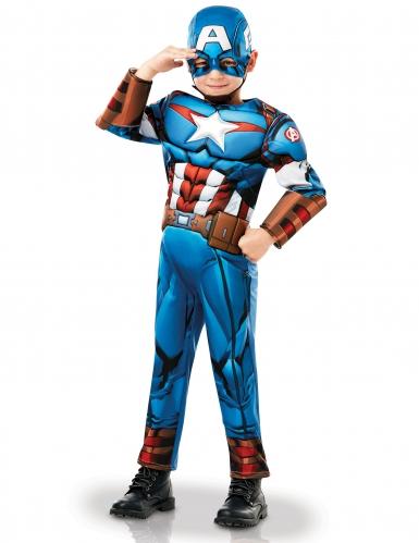 Travestimento deluxe da Capitan America™ cartone per bambino-2