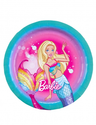 8 piattini in cartone Barbie Dreamtopia™ 18 cm