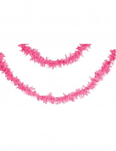 Ghirlanda di carta rosa 7 m