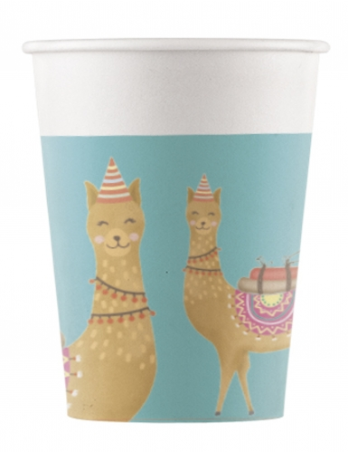 8 bicchieri in cartone Lama Party