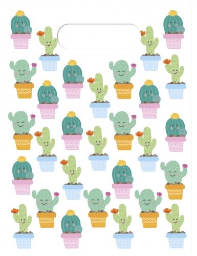 6 sacchetti regalo piccoli cactus