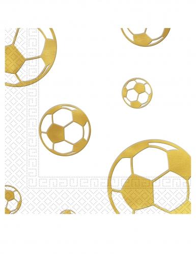 15 tovaglioli di carta pallone calcio oro