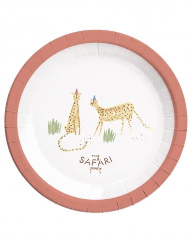 8 piatti in cartone safari party 23 cm