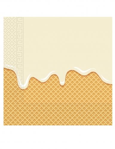 20 tovaglioli di carta passione gelato