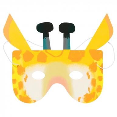 8 maschere in cartone animali della giungla-2