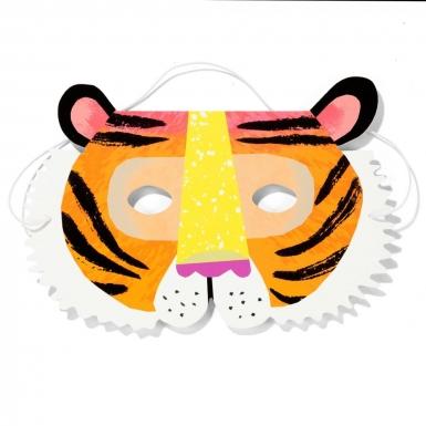 8 maschere in cartone animali della giungla-3