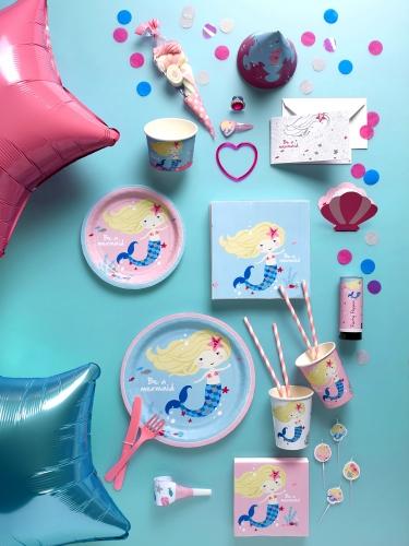 Ghirlanda Happy Birthday sirenetta in cartone-1