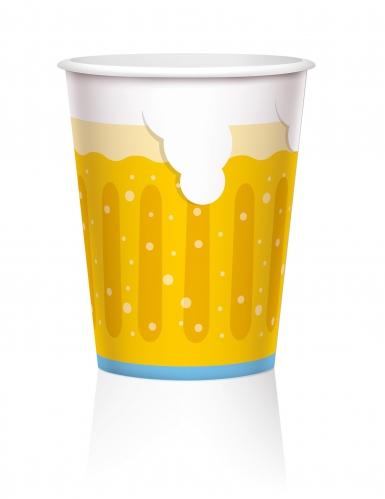 6 bicchieri grandi in cartone boccali di birra