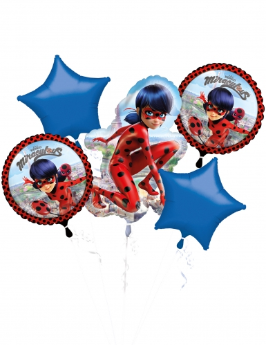 Bouquet 5 palloncini alluminio Ladybug™