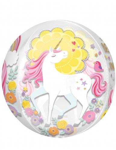 Palloncino rotondo trasparente unicorno-1